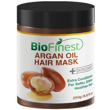 Biofinest Argan Oil Hair Mask - with 100% Organic Jojoba Oil, Aloe Vera, Keratin - Deep Conditioner for Dry/ Damaged/ Color Treated Hair (250g)