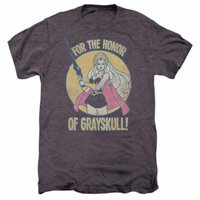 She Ra/Honor Of Grayskull S/S Adult Premium Tee Moth Heather Drm230B