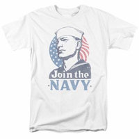 Navy/Join Now S/S Adult 18/1 White Na109