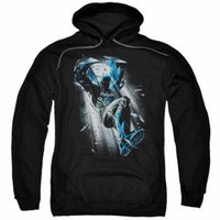 Trevco Batman-Bat Crash - Adult Pull-Over Hoodie - Black, Small