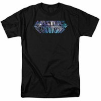 Masters Of The Universe/Space Logo S/S Adult 18/1 Black Drm268