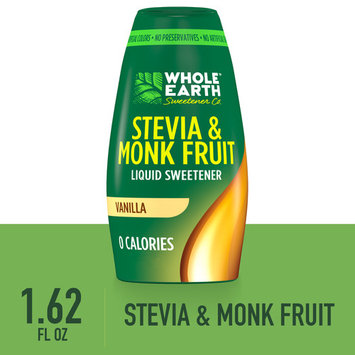 Whole Earth Sweetener Vanilla Liquid Stevia and Monk Fruit Sweetener, 1.62 Fl Oz [multipack_quantity: multipack_quantity-1]