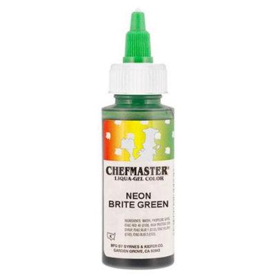Chefmaster by US Cake Supply 2.3oz Neon Brite Green Liqua-Gel Cake Food Coloring