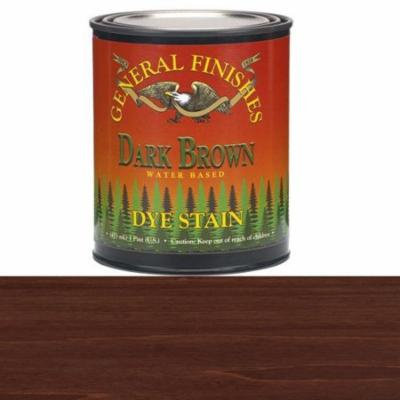General Finishes, Water Based Dye, Dark Brown, Pint