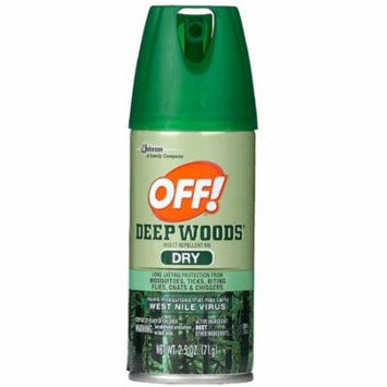 OFF! Deep Woods Dry Insect Repellent Spray 2.5 oz (Pack of 6)