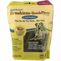 Ark Naturals Breath-Less Brushless Toothpaste Chewable Large Dog Treats, 18 Oz.