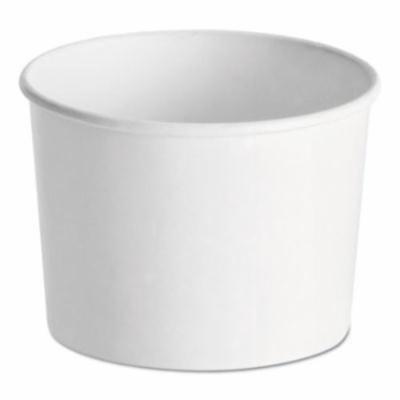 Huhtamaki HUH71226 Paper Food Containers, 12 Oz, White, 1000/carton