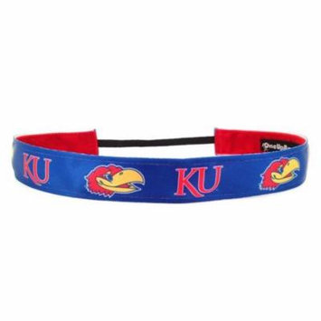 One Up Bands 1440 NCAA Kansas U Team Colors Headband - Pack of 2