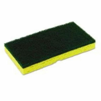 Continental Commercial Products CONSS652 Medium-duty Scrubber Sponge, 3 1/8 X 6 1/4 In, Yellow/green, 5/pk, 8 Pk/ct