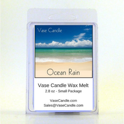 2 Ocean Rain Vase Candle Melts 2.8 oz Premium Highly Scented Soy Paraffin Wax Tarts 50 Hours (Pack of 2)