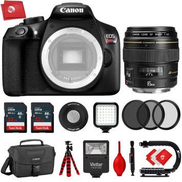 Circuit City Canon T6 18MP 1080P DSLR Camera w/ Canon EF 85mm f/1.8 USM Portrait Lens - 64GB - 20PC Kit