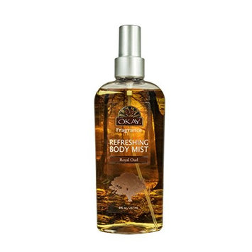 OKAY Refreshing Body Mist, Royal Oud, 4 Fluid Ounce [Royal Oud]