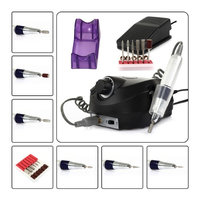 Besmall Brand New 110V 18000-30000RPM Black Professional Nails Salon Manicure Electric Nail Drill File Machine Kits with Pedal