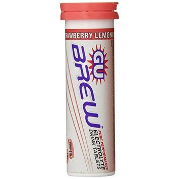 GU Energy Labs Brew Electrolyte Energy Drink Tablets, Strawberry Lemonade, 56 Gram [Strawberry Lemonade]