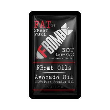 FBOMB Avocado Oil – 100% Pure, Raw, Premium Oil - 1-Ounce Packets, 20-Count Box