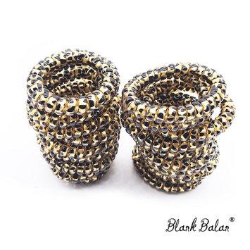 20PCS Blank Balan Plastic Leopard Pattern Spiral Hair Ties, Hair Band, Ponytail Holder (brown leopard)