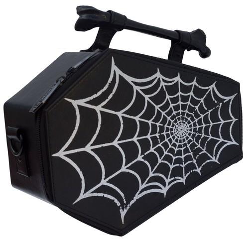 Spiderweb Coffin Purse Spider Web Casket Theme Handbag Kreepsville Halloween