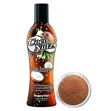 Supre COCO NUTZ Dark Bronzer - 8 oz. + Bronzer Makeup | Gold Digger | Mineral Makeup by Giselle Cosmetics | Pure, Non-Diluted Mineral Make Up
