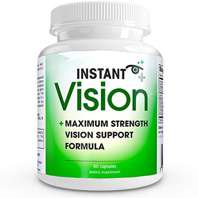 Instant Vision Maximum Strength Vision Support Formula Dietary Supplement, 60 Capsules