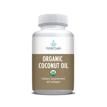 InnerCues Organic Coconut Oil Soft Gels - 60 CT