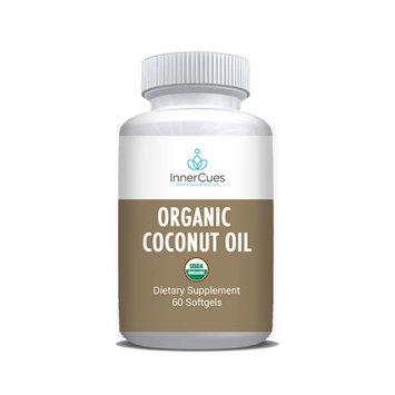 InnerCues Organic Coconut Oil Soft Gels - 60 CT