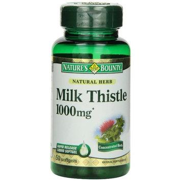 Nature's Bounty Milk Thistle 1000mg Softgels 50 ea