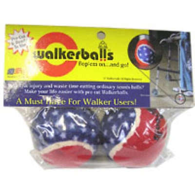 Patriotic Walker Balls Red, White & Blue 1 pair (Pack of 4)