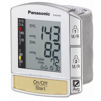 Panasonic Appliances Wrist Blood Pressure Monitor with Flat Panel Display