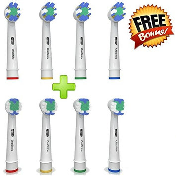 The Ultimate Oral B Braun Replacement Best Electric Toothbrush Heads (8) | 4 Floss Action Heads Plus 4 Complimentary Soft Brush Heads | Remove Plaque And Decrease Gingivitis