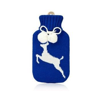 NPW Huggable Hotties Blue Deer HOT Water Bottle w/ Sweater Blue/white Size 750ml