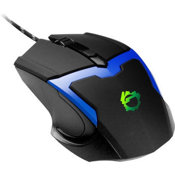SIIG JK-US0E12-S1 JK-US0E12-S1 - Mouse - optical - 4 buttons - wired - USB - blue