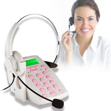 AGPtek Call Center Dialpad Headset Telephone with Tone Dial Key Pad & REDIA