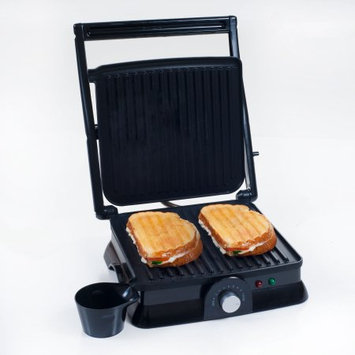 Trademark Global Games Panini Press Indoor Grill and Gourmet Sandwich Maker, Electric with Nonstick Plates by Chef Buddy