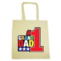 RealSlickTees Number 1 Grandad Tote Bag [Yellow]