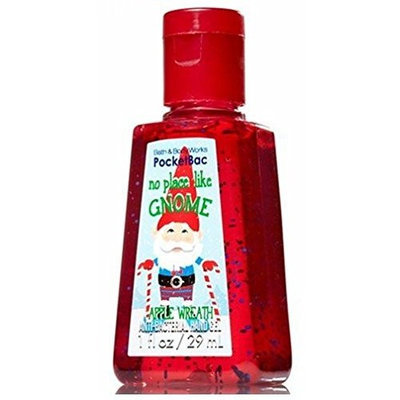 No Place Like Gnome Pocketbac - Discontinued - Apple Wreath Scented - Bath & Body Works Antibacterial Hand Sanitizer Gel