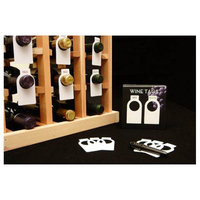 Wine Cellar Innovations 100 Mylar Wine Bottle Tags for Identifying, Organizing Fine Wine