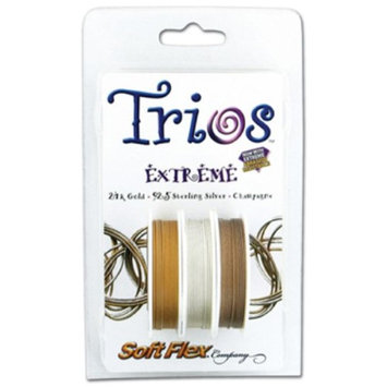 Eurotool Soft Flex Trio, Extreme Bead Wire, 0.019 Inch, 10 Feet, Pack of 3