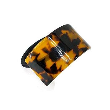 We We France Hair Cuff Leopard Print Hair Cuffs Ponytail Holder, Brown