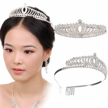 Wedding Bridal Princess Austrian Crystal Hair Accessory Tiara Crown Veil