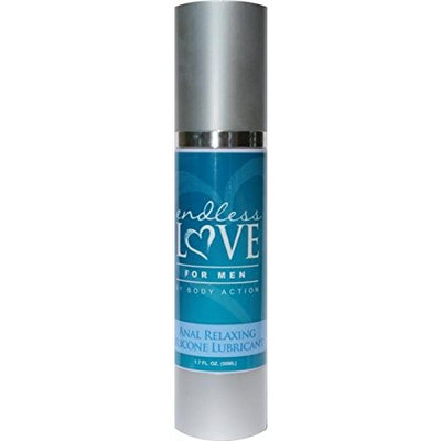 Body Action Endless Love for Men Anal Relaxing Silicone Based Lubricant, 1.7 Ounce