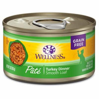 Wellness Complete Health Natural Grain Free Wet Canned Cat Food, Turkey, 3-Ounce Can (Pack of 24)