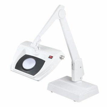 Dazor Stretchview 28-Inch Desk Base Magnifier - 16-Diopter 5X - White
