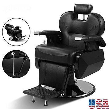 Hydraulic Recline Chair Barber - Salon Beauty Spa Shampoo Hair Styling All Purpose dimensions 432839/43