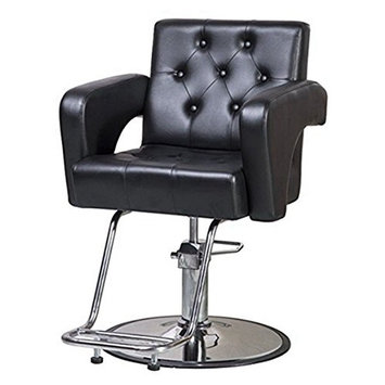 Beauty Style Classic Styling Salon Barber Chair Black