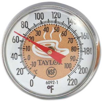 TAYLOR 6092NBR Thermometer, Brown Coded,0 to 220F