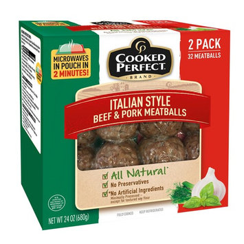 Cooked Perfect Italian Style Beef and Pork Meatballs, 2 pk./16 ct.