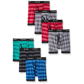 Fruit of the Loom Boys Boxer Brief, Exposed and Covered Waistband, Assorted [7]