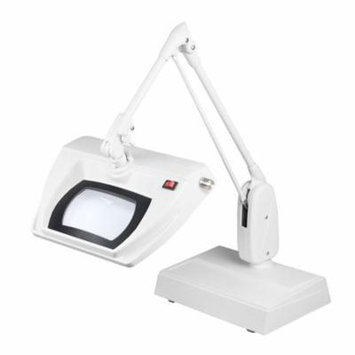 Dazor Stretchview 33-Inch Desk Base Magnifier 5-Diopter 2.25X - White