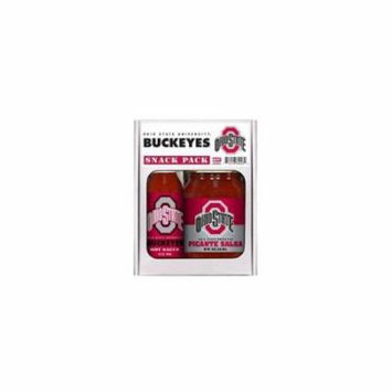 Ohio State Buckeyes NCAA Snack Pack (5oz Hot Sauce, 16oz Picante Salsa)