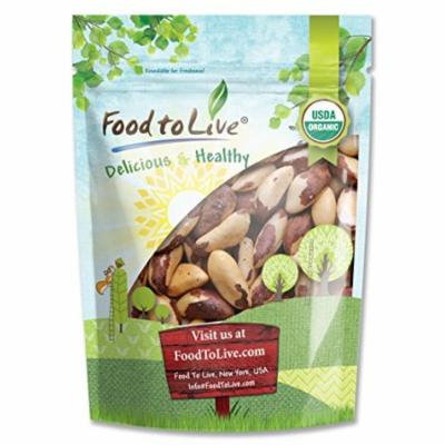 Food To Live ® Organic Brazil Nuts (Raw, No Shell) (8 Ounces)
